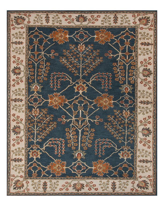 Jaipur Living Jaipur Chambery Poeme Area Rug, 2'6 X 8' In Dark Blue / Lily White