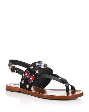 0f78393e43e939 Tory Burch - Women s Estella Embellished Slingback Sandals