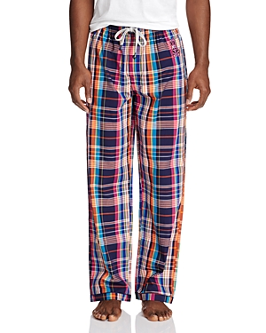 Psycho Bunny Plaid Cotton Lounge Pants