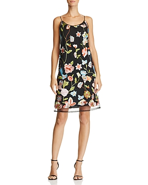 Aqua Floral Embroidered Slip Dress - 100% Exclusive