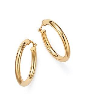 Bloomingdale's - 14K Yellow Gold Tube Hoop Earrings - 100% Exclusive