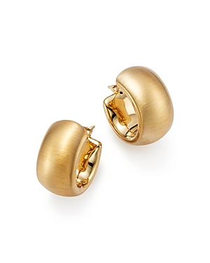 Bloomingdale's 14K Yellow Gold Wide Band Matte Hoop Earrings with Satin Finish - 100% Exclusive