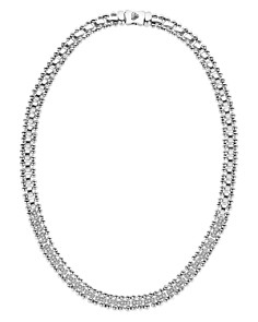 LAGOS - Sterling Silver Caviar Spark Diamond Collar Necklace, 18""