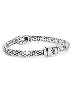 LAGOS - 18K Gold and Sterling Silver Newport Knot Bracelet with Diamonds