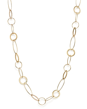 14K Yellow Gold Round & Marquise Link Necklace, 18 - 100% Exclusive