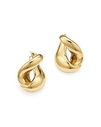 Bloomingdale's - 14K Yellow Gold Foldover Earrings - 100% Exclusive