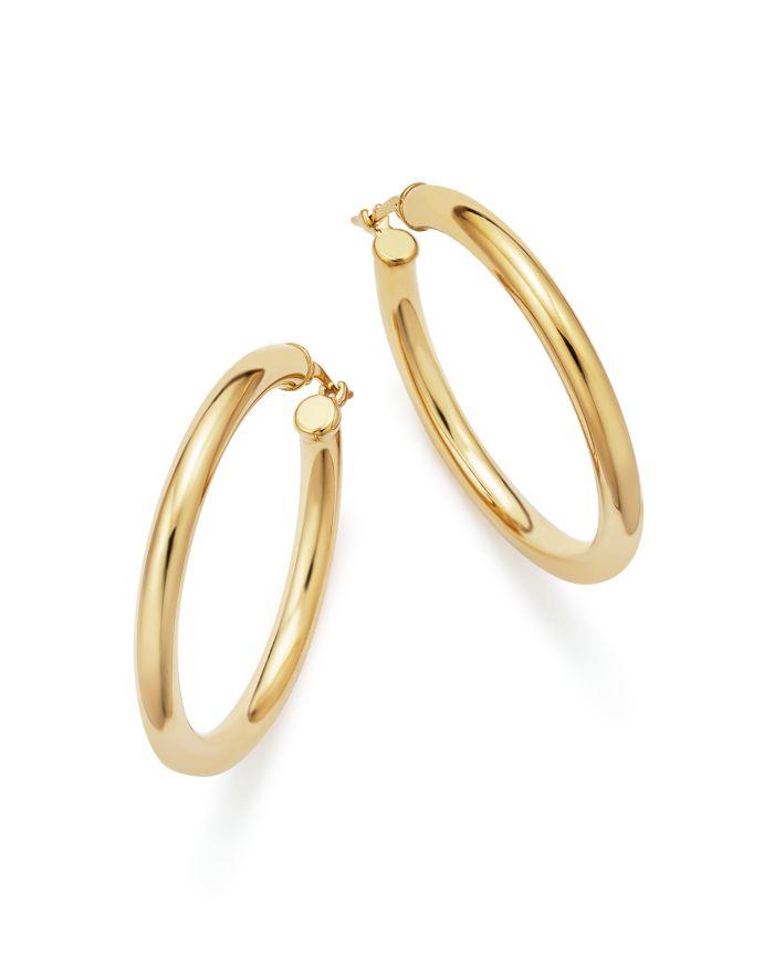 Bloomingdale's 14K Yellow Gold Tube Hoop Earrings - 100% Exclusive  | Bloomingdale's