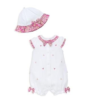 Little Me Girls' Garden Romper & Hat Set - Baby