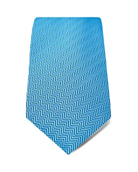 Hilditch & Key - Herringbone Textured Solid Wide Tie