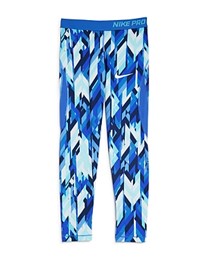 Nike Girls' Pro Dri-Fit Geo Print Capri Leggings - Big Kid