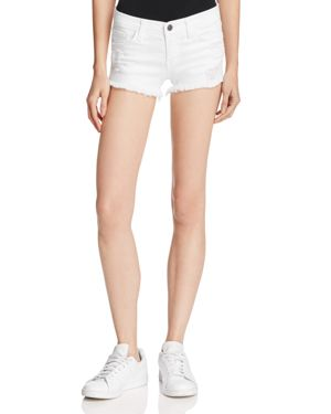 FLYING MONKEY WHITE DISTRESSED CUTOFF SHORTS - 100% EXCLUSIVE