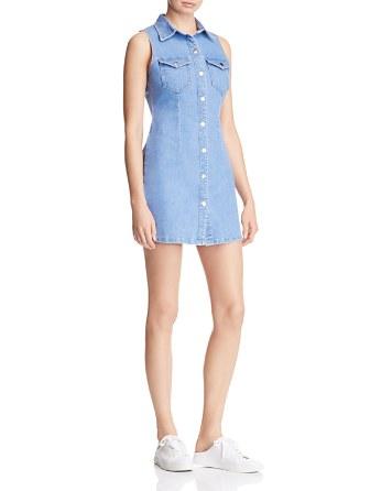 $Bardot Erin Denim Shirt Dress - Bloomingdale's
