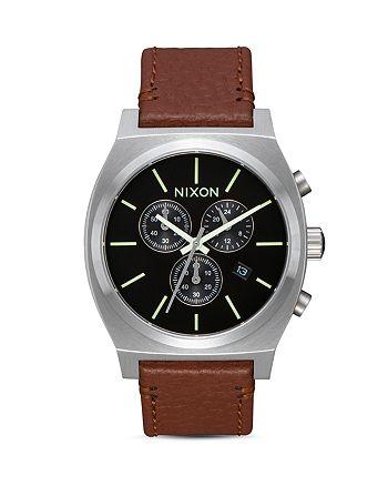 Nixon - Time Teller Chrono Leather Watch, 39mm