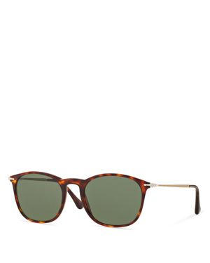 Persol Satoria Reflex Edition Keyhole Square Acetate Sunglasses, 50mm