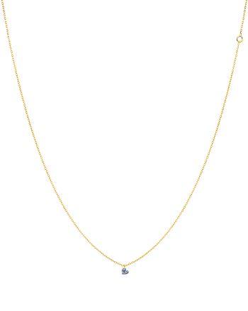 """La Brune et La Blonde - 18K Yellow Gold 360 Heart Diamond Necklace, 14.75"""""""