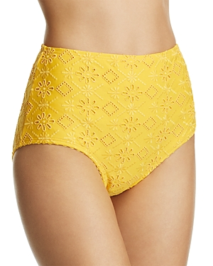 kate spade new york High Waist Bikini Bottom