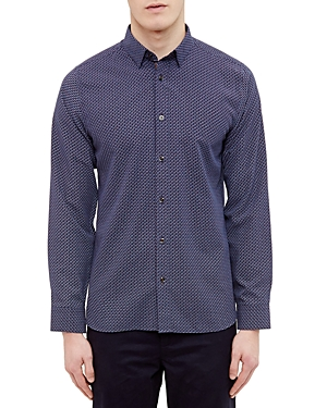 Ted Baker Diamond Print Regular Fit Button-Down Shirt