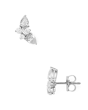 Nadri Cluster Stud Earrings