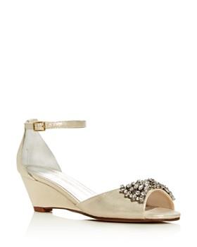 Caparros - Women's Hugh Metallic Embellished Wedge Sandals