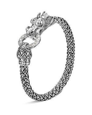 John Hardy Naga Silver Dragon Bracelet with Diamond Pave, .45 ct. t.w.