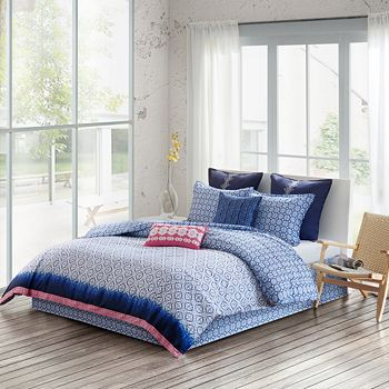 Echo - Shibori Duvet Set, Twin