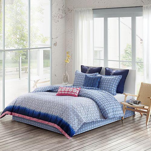 Echo - Shibori Comforter Set, Queen