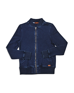 7 For All Mankind Boys' French Terry Bomber Jacket - Big Kid