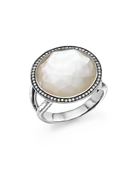 IPPOLITA - Ippolita Sterling Silver Stella Lollipop Ring in Mother-of-Pearl Doublet with Diamonds