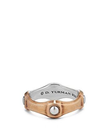 David Yurman - Anvil Band Ring with Bronze, 8mm