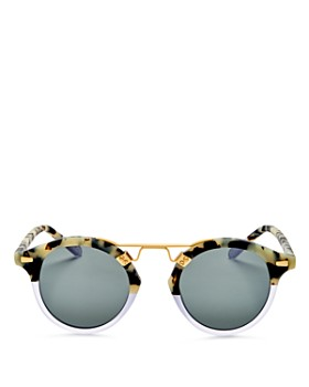 Krewe - Women's St. Louis 24K Gradient Round Sunglasses, 46mm