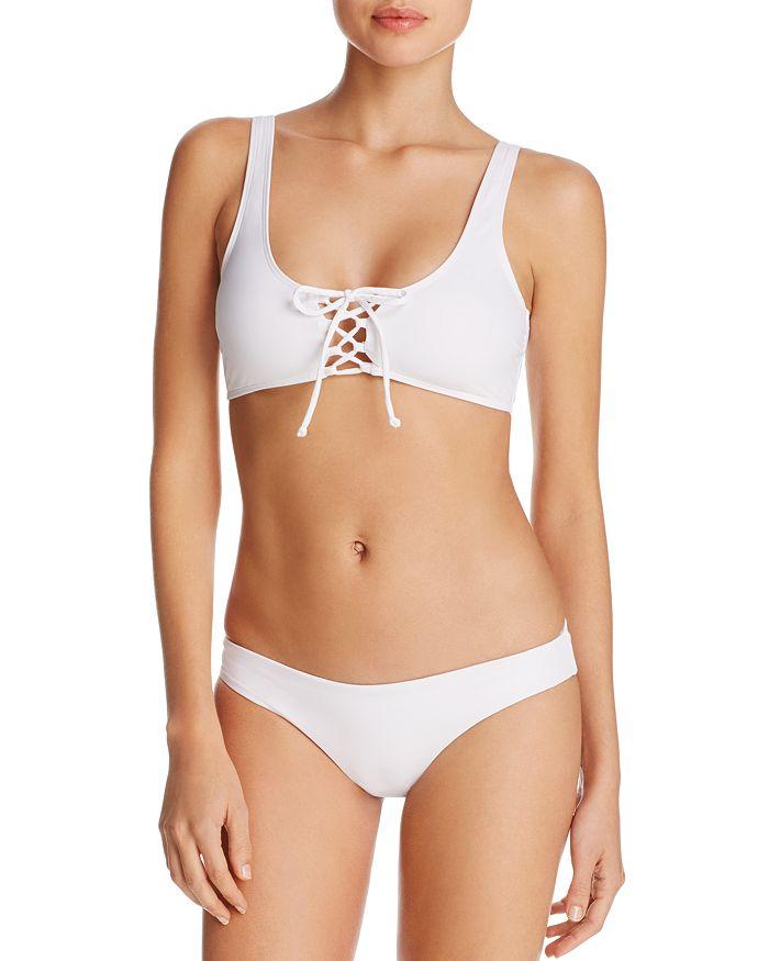 L*Space - Romi Lace Up Bikini Top & Sandy Classic Bikini Bottom