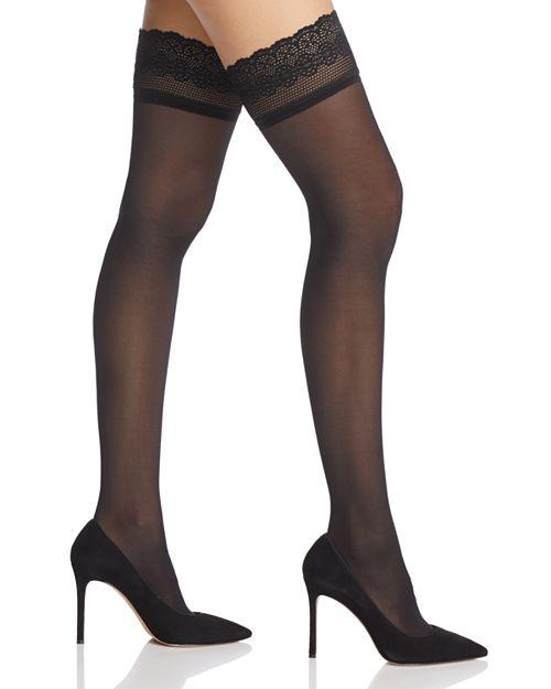 DKNY - Lace-Trim Sheer Thigh-Highs