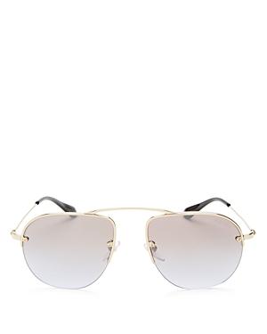 Prada Mirrored Aviator Sunglasses, 57mm
