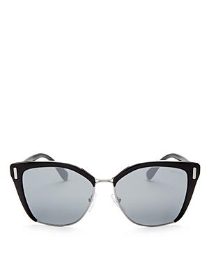 Prada Mirrored Cat Eye Sunglasses, 55mm