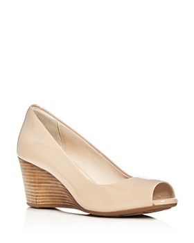 5de9a060e9a0 Cole Haan - Women s Sadie Peep Toe Wedge Pumps ...