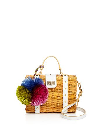 MILLY - Small Wicker Satchel