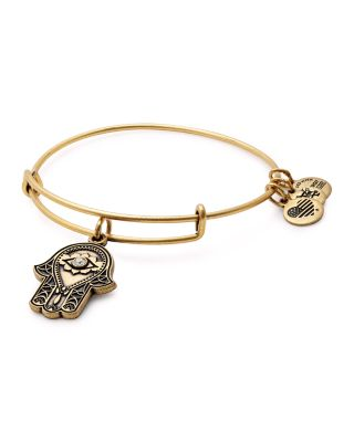 ALEX AND ANI Hand Of Fatima Adjustable Wire Bangle (Nordstrom Exclusive) in Russian Gold