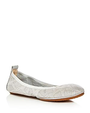 Yosi Samra Stella Snake Embossed Ballet Flats