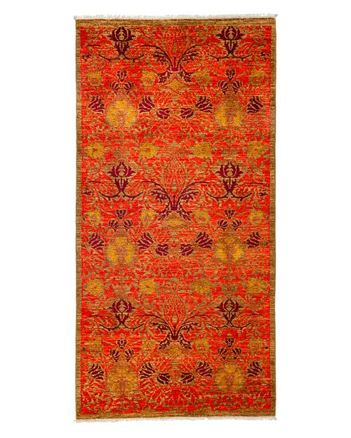 """Solo Rugs - Arts and Crafts Area Rug, 4'3"""" x 8'4"""""""