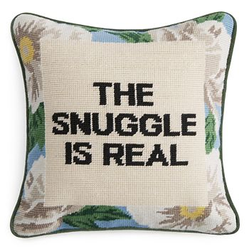"Sparrow & Wren - The Snuggle Is Real Needlepoint Decorative Pillow, 12"" x 12"" - 100% Exclusive"
