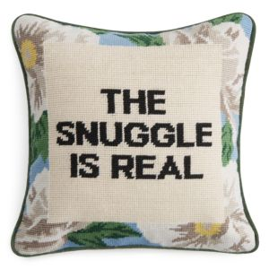 Sparrow & Wren The Snuggle Is Real Needlepoint Decorative Pillow, 12 x 12 - 100% Exclusive