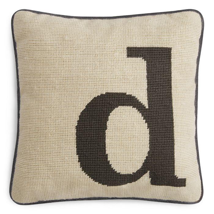 "Sparrow & Wren - Letter Needlepoint Decorative Pillow, 12"" x 12"" - 100% Exclusive"