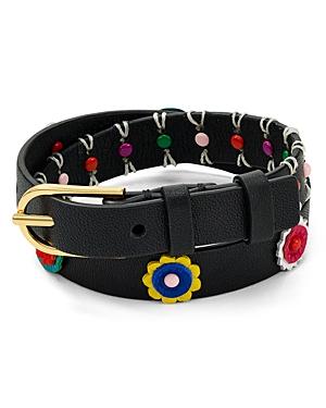 Tory Burch Millefiori Leather Wrap Bracelet