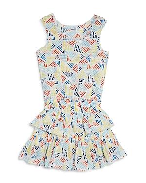 Splendid Girls Printed Ruffle Dress  Big Kid
