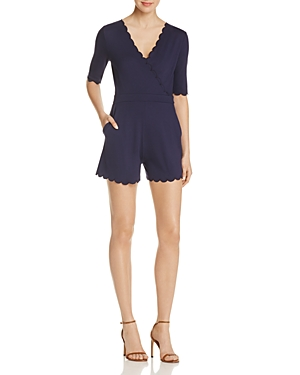 French Connection Beau Scalloped Romper