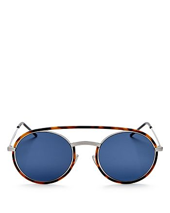 Dior Homme - Men's Synthesis Brow Bar Round Sunglasses, 50mm