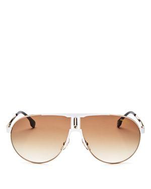 Carrera Aviator Shield Sunglasses, 70mm