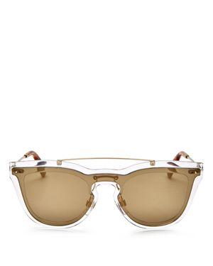 Valentino Mirrored Cat Eye Shield Sunglasses, 55mm