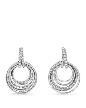 David Yurman - Crossover Drop Earrings with Diamonds
