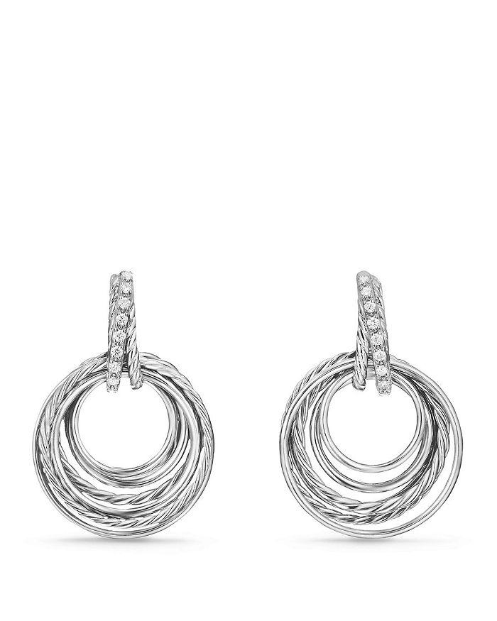 David Yurman - Crossover Drop Earrings with Diamonds